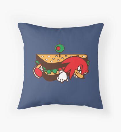 KNUCKLES SANDWICH Throw Pillow