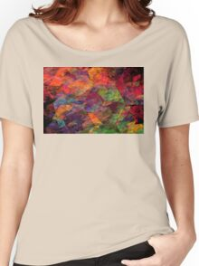 Colorful Psychedelic Abstract Fractal Art Women's Relaxed Fit T-Shirt