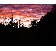 October Sunset Photographic Print