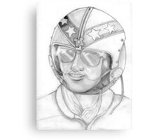 Top Gun 1980s, Pilot in pencil Canvas Print