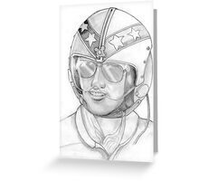 Top Gun 1980s, Pilot in pencil Greeting Card