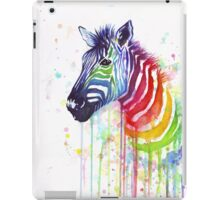 Rainbow Zebra Watercolor iPad Case/Skin