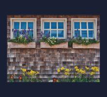 Windows with flowers Kids Tee