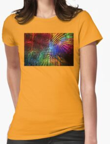 Colorful Psychedelic Abstract Fractal Art Womens Fitted T-Shirt