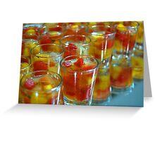 Fruit cocktail Greeting Card