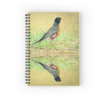 American Robin At Water's Edge Spiral Notebook