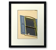 Cafe Window Framed Print