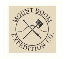 Mount Doom Expedition Co. Art Print