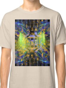 Colorful Psychedelic Abstract Fractal Art Classic T-Shirt