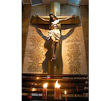 Jesus Christ crucified on the cross  Photographic Print