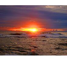 Sunset in Zambales, Philippines  Photographic Print