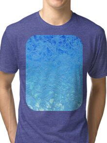 Grunge Relief Floral Abstract Tri-blend T-Shirt