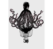 Octopus Balloon Photographic Print