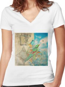 The Birds and The Bees Women's Fitted V-Neck T-Shirt