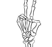 Skeleton Peace by morethangiulia