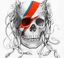 Bowie Medusa Scull by OlechkaDesign