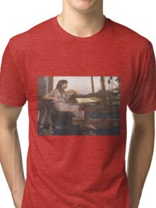 Girl on a loom- dawn oconnor - photography - photo - art for sale - Tri-blend T-Shirt