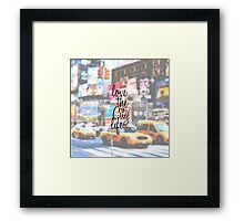 """Love the City Life"" Typography on Cityscape  Framed Print"