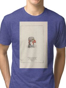 Mother Goose or the Old Nursery Rhymes by Kate Greenaway 1881 0057 Engraving Credits Plate Tri-blend T-Shirt
