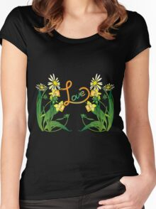Daisies and daffodils Women's Fitted Scoop T-Shirt