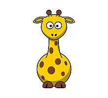 Cartoon Giraffe Photographic Print
