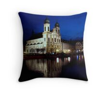 Baroque Jesuit Church, Lucerne Throw Pillow