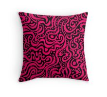 Abstract 041211 - Neon Red Throw Pillow