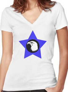 Bald Eagle (White) T-Shirt Women's Fitted V-Neck T-Shirt