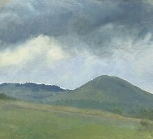 Storm clouds over the hill by v0ff