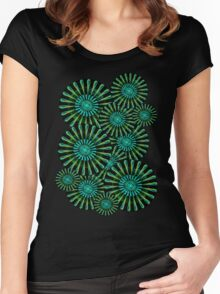 Fractal flowers Women's Fitted Scoop T-Shirt