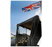 World War 2 Jeep & Union Flag Poster