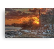 Sunset Over the Harbour Canvas Print