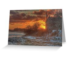 Sunset Over the Harbour Greeting Card