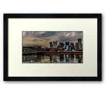 Blue sunrise in Boston, MA Framed Print
