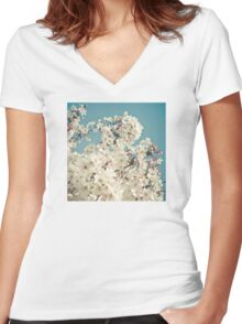 Buds in May Women's Fitted V-Neck T-Shirt