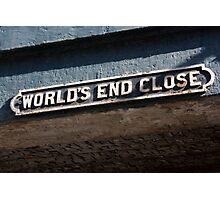 World End Close - Edinburgh Photographic Print