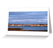 Yarmouth Waterfront with CAT Ferry Greeting Card