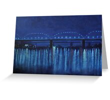 """Blue River"" Greeting Card"