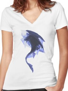 Diamond toothless Women's Fitted V-Neck T-Shirt