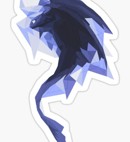 Diamond toothless Sticker