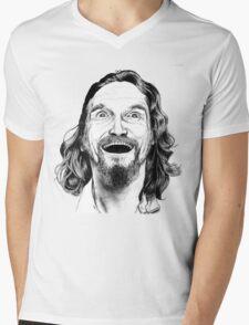 "Jeff ""The Dude"" Lebowski Mens V-Neck T-Shirt"