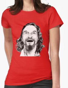 """Jeff """"The Dude"""" Lebowski Womens Fitted T-Shirt"""