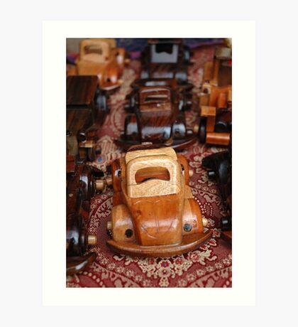 miniature toy car Art Print