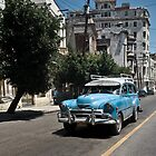 Blue Car in Havana by photomadly