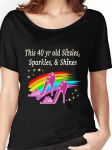 FABULOUS 40 YR OLD SHOE QUEEN Women's Relaxed Fit T-Shirt