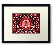 Red Polka Framed Print
