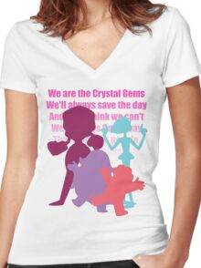 We are the Crystal Gems! Women's Fitted V-Neck T-Shirt