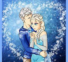 Jack Frost x Elsa by SilveryDreams
