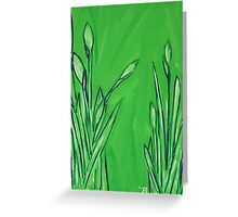 """Water Greenery"" Greeting Card"