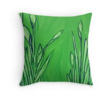"""Water Greenery"" Throw Pillow"
